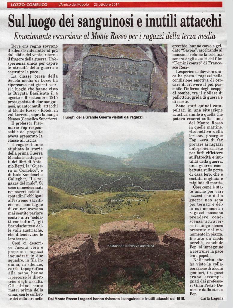 art Amico del Popolo - Monte Rosso